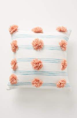 Anthropologie Rio Stripe Pompom Accent Pillow