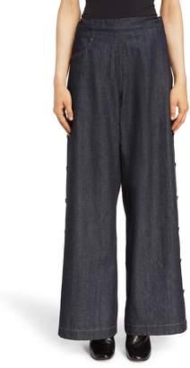 Yohji Yamamoto Y's by Side Button Wide Leg Jeans
