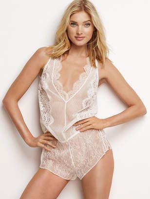 Victoria's Secret Dream Angels Floral Lace & Stripe Romper