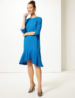 Marks and Spencer Crepe Fishtail 3/4 Sleeve Swing Dress
