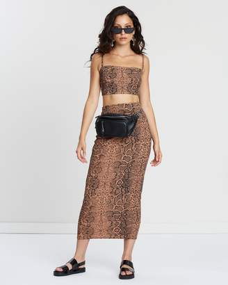 Missguided Midi Skirt and Strappy Crop Top Co-Ord