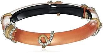 Alexis Bittar Womens Crystal Encrusted Open Knot Hinge Bracelet