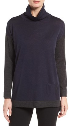 Women's Eileen Fisher Fine Merino Jersey Turtleneck Sweater $248 thestylecure.com