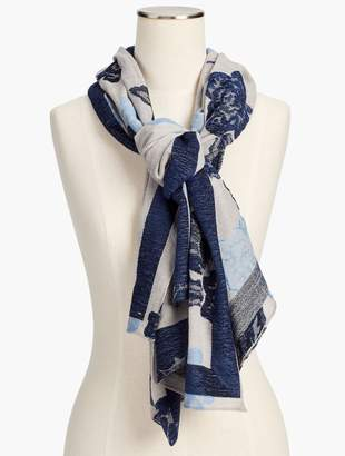 Talbots Floral Jacquard Scarf
