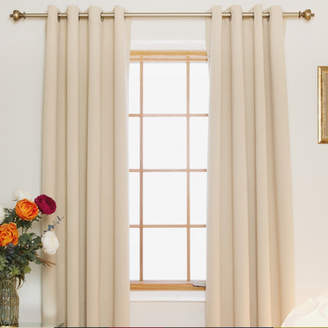 Andover Mills Carbondale Nickel Top Solid Blackout Thermal Grommet Curtain Panels