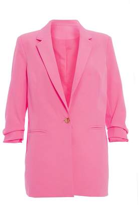 Quiz TOWIE Fuchsia Pink 3/4 Sleeve Suit Jacket