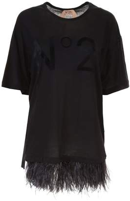 N°21 T-shirt With Feathers