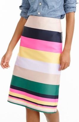 Women's J.crew Pop Stripe Skirt $98 thestylecure.com