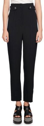Proenza Schouler High-Waist Pencil-Leg Pants, Black $895 thestylecure.com
