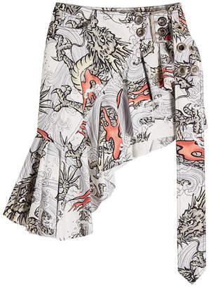 Marques Almeida Marques' Almeida Wrap Frill Printed Skirt