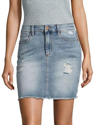 Buffalo David Bitton Ivy Distressed Denim Skirt $69 thestylecure.com