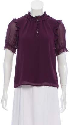 Rebecca Minkoff Ruffled Short Sleeve Top