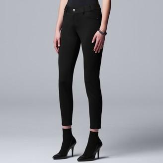 Vera Wang Women's Simply Vera Ponte Skinny