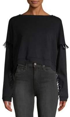 Blank NYC Beaded Cotton Sweatshirt