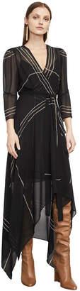 BCBGMAXAZRIA Samantha Wrap-Front Handkerchief Dress