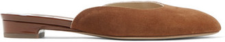 Alba Suede Slippers - Brown