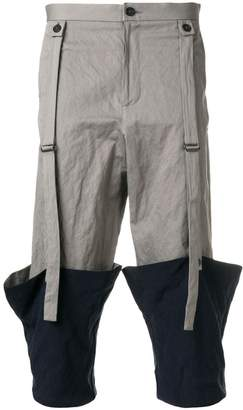 Chalayan turned up hem cropped trousers