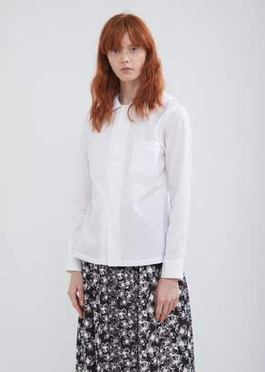 Comme des Garcons Cotton Broad Button Front Blouse
