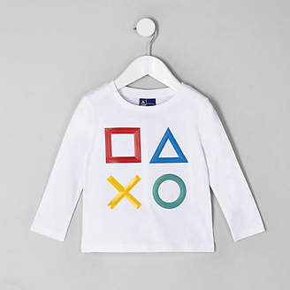 River Island Mini boys white Playstation T-shirt