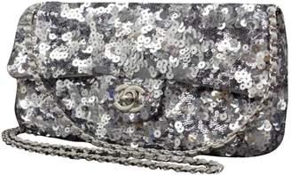 Chanel Silver Glitter Handbag