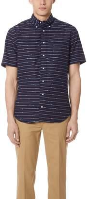 Gitman Brothers Long Sleeve Indigo Barre Shirt