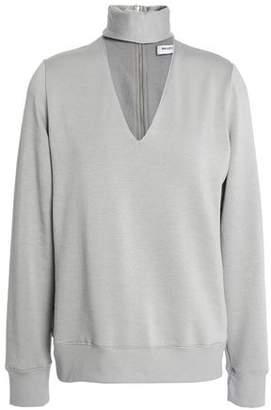 Tamaño 44 Top Recorte Gris Estiramiento claro L de Bailey empalme mujer Modal Fleece Ojo de OxCdq