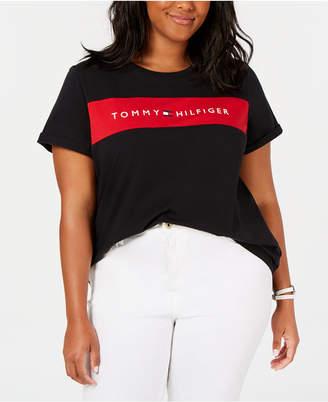 Tommy Hilfiger Plus Size Logo-Graphic T-Shirt