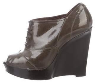 Marni Peep-Toe Wedge Oxfords