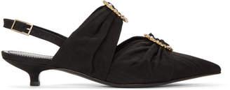 Erdem Black Chelsea Slingback Heels