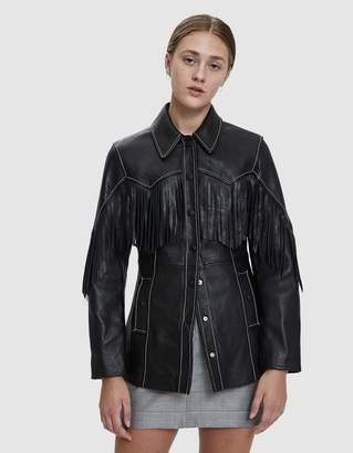 Ganni Angela Fringe Leather Jacket