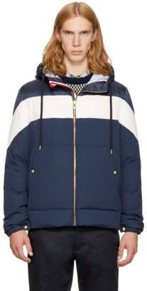 Moncler Gamme Bleu Navy Down Band Hooded Jacket