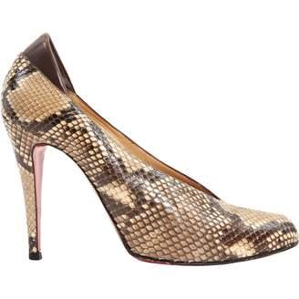 Christian Louboutin Vintage Brown Python Heels
