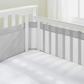 "BreathableBaby AirFlowBaby 14"" Mesh Crib Liner, Gray"