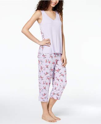 Alfani Printed-Panel Pajama Set