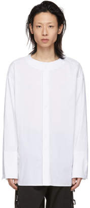 D.gnak By Kang.d White Double Sleeve Shirt