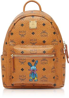 MCM Cognac Rabbit Mini Backpack