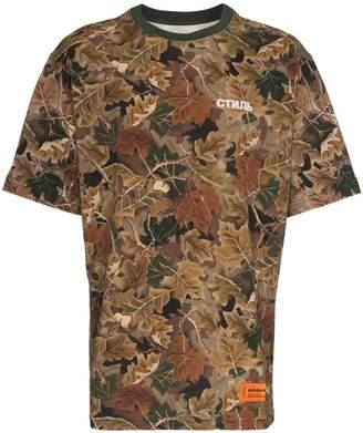 Heron Preston Public Figure camouflage print cotton t shirt