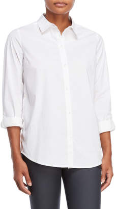 Buffalo David Bitton White Button-Side Shirt