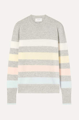 La Ligne Aaa Candy Striped Wool And Cashmere-blend Sweater - Gray