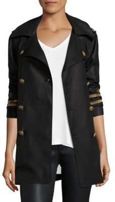 Polo Ralph Lauren Embroidered Linen Peacoat $398 thestylecure.com