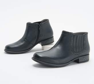 Earth Origins Leather Perforated Ankle Boots - Avani Buxton