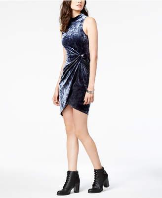ASTR the Label Avalon Velvet Wrap Dress