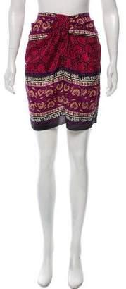 Anna Sui Printed Knee-Length Skirt w/ Tags