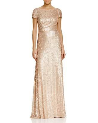Adrianna Papell Short Sleeve Sequin Gown $208 thestylecure.com