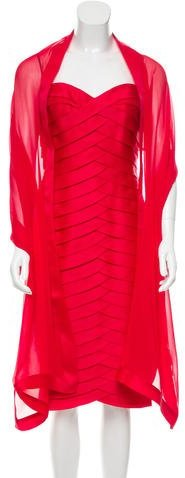 Carmen Marc Valvo Carmen Marc Valvo Silk Strapless Dress w/ Tags