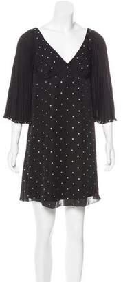 Marc Jacobs Rhinestone-Embellished Silk Mini Dress w/ Tags