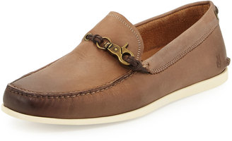 John Varvatos Star Venetian Leather Loafer, Wood Brown $159 thestylecure.com