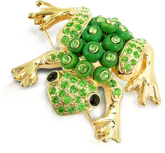 A-Z Collection Green Frog Brooch