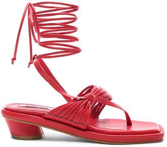 Reike Nen Unbalanced String Flip Flop in Red | FWRD
