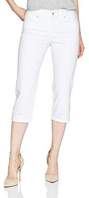 3fcaf36b13f at Amazon.com · NYDJ Women s Marilyn Crop with Eyelet Embroidery Hem